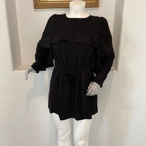 SHILLA The Label Status Flared Mini Black Dress L